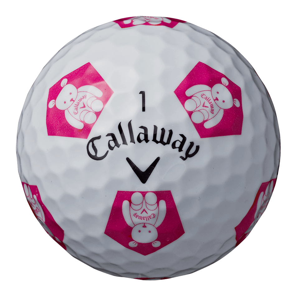 CHROME SOFT TRUVIS CALLAWAY BEAR ボール ホワイト / ピンク CE - View 4