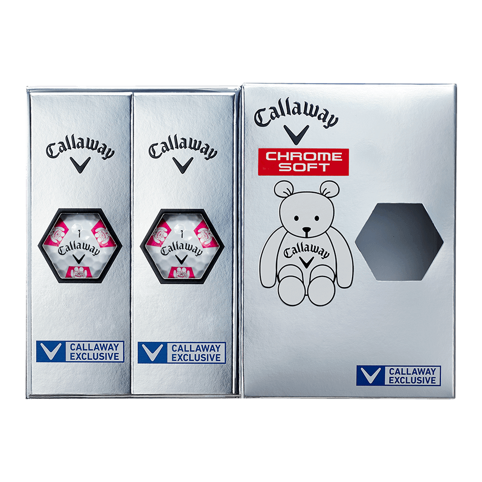 CHROME SOFT TRUVIS CALLAWAY BEAR ボール ホワイト / ピンク CE - View 7