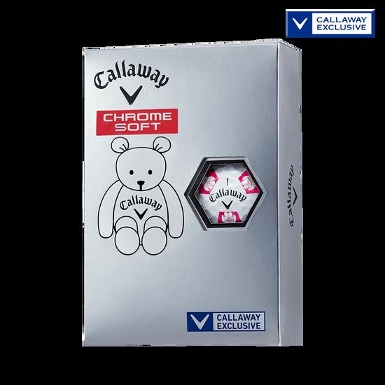 CHROME SOFT TRUVIS CALLAWAY BEAR ボール ホワイト / ピンク CE