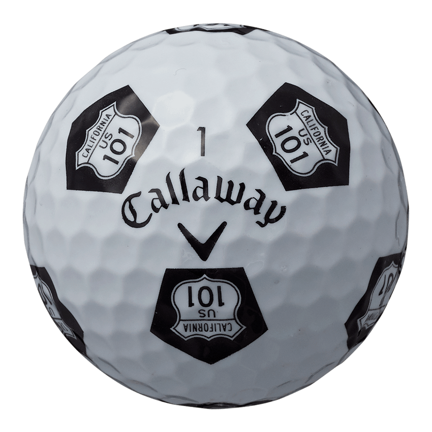 CHROME SOFT TRUVIS HIGHWAY 101 ボール ホワイト / ブラック CE - View 4
