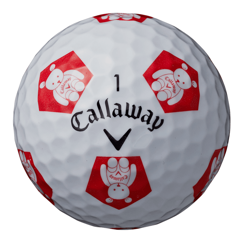 CHROME SOFT TRUVIS CALLAWAY BEAR ボール ホワイト / レッド CE - View 4