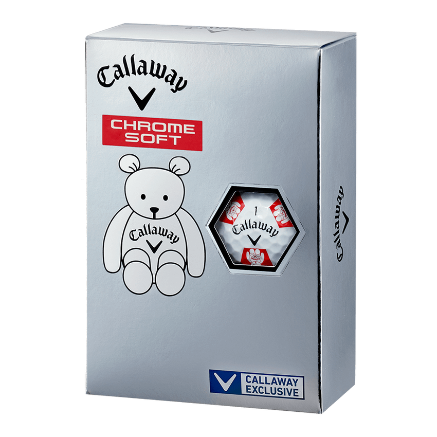 CHROME SOFT TRUVIS CALLAWAY BEAR ボール ホワイト / レッド CE - View 5