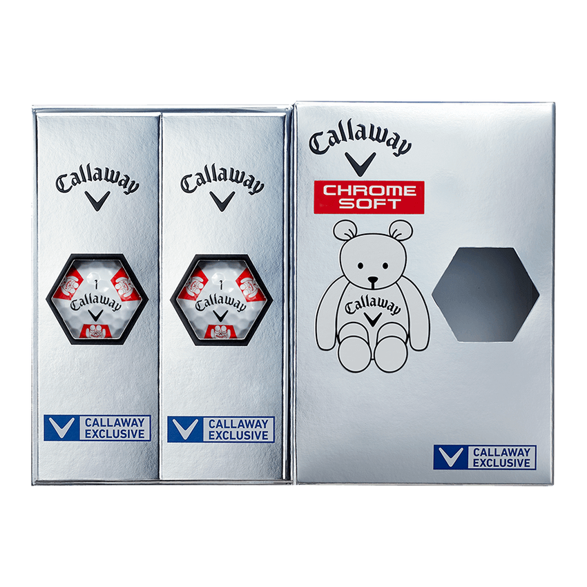 CHROME SOFT TRUVIS CALLAWAY BEAR ボール ホワイト / レッド CE - View 7