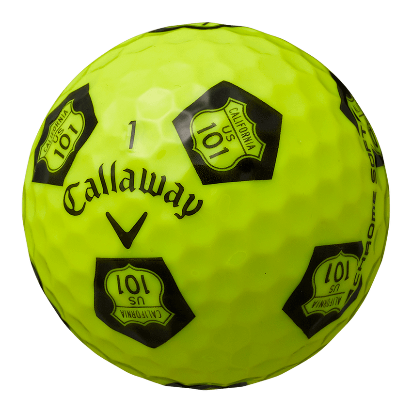 CHROME SOFT TRUVIS HIGHWAY 101 ボール イエロー / ブラック CE - View 2