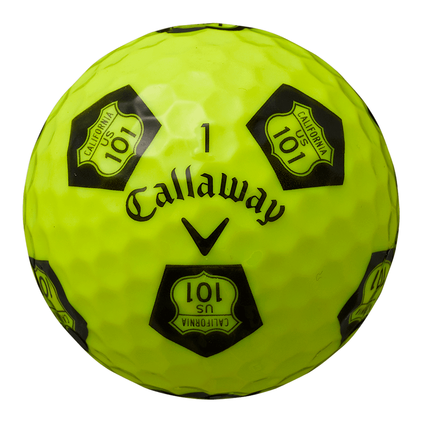 CHROME SOFT TRUVIS HIGHWAY 101 ボール イエロー / ブラック CE - View 4