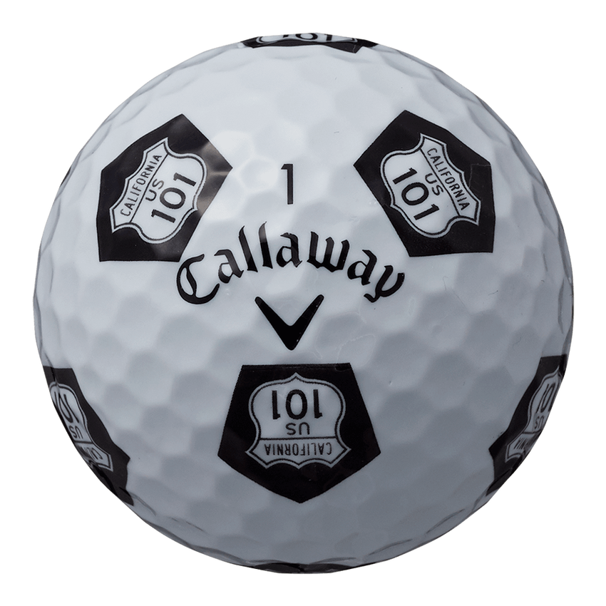 CHROME SOFT X TRUVIS HIGHWAY 101  ボール ホワイト / ブラック CE - View 4