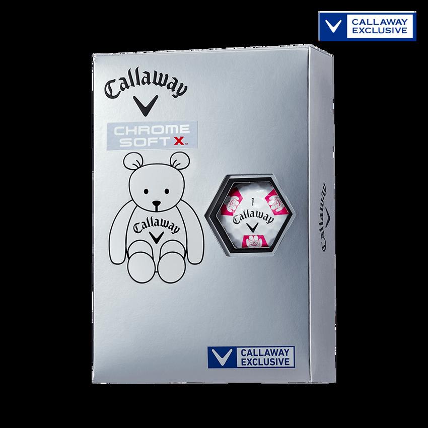 CHROME SOFT X TRUVIS CALLAWAY BEARボール ホワイト / ピンク CE - View 1