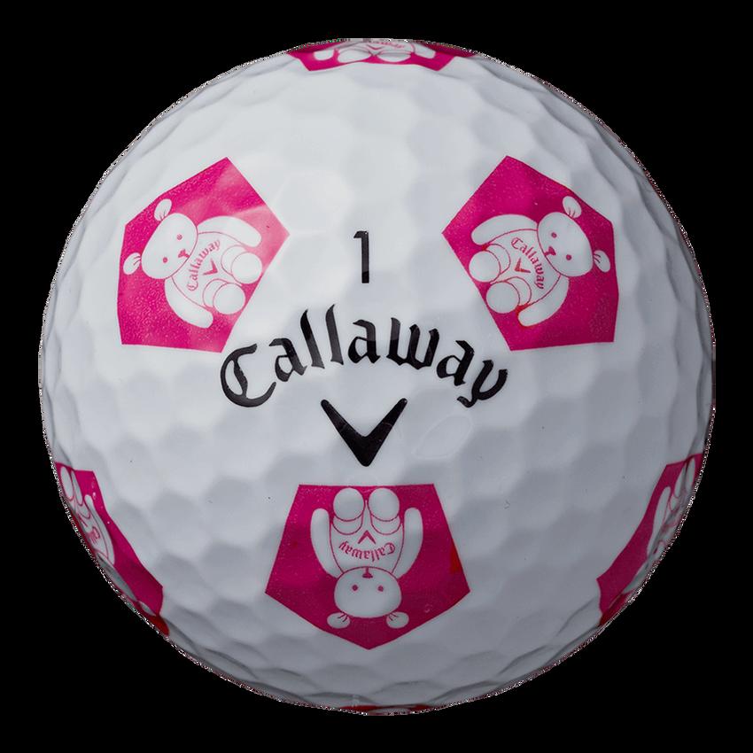 CHROME SOFT X TRUVIS CALLAWAY BEARボール ホワイト / ピンク CE - View 4