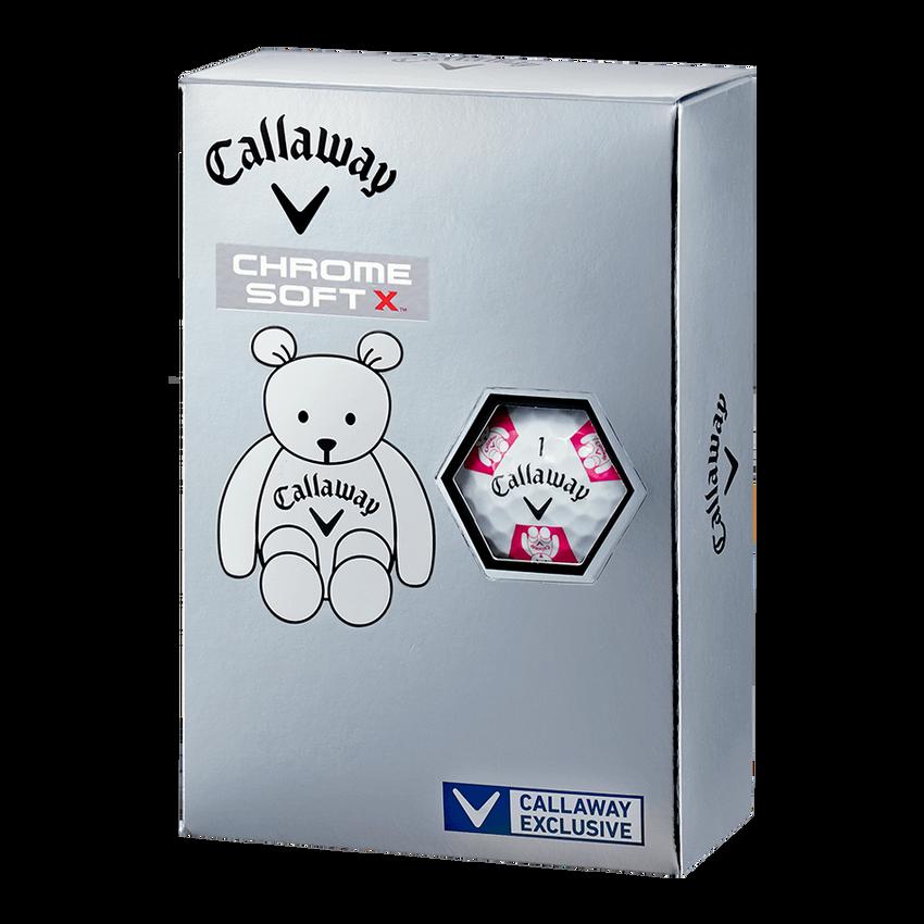 CHROME SOFT X TRUVIS CALLAWAY BEARボール ホワイト / ピンク CE - View 5
