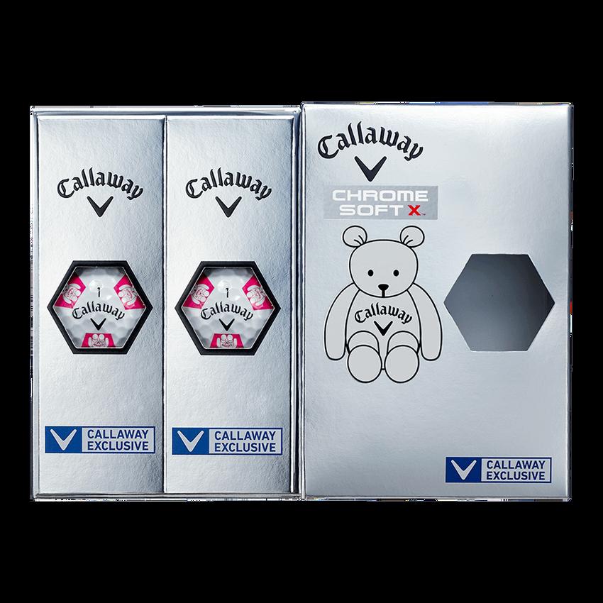 CHROME SOFT X TRUVIS CALLAWAY BEARボール ホワイト / ピンク CE - View 7