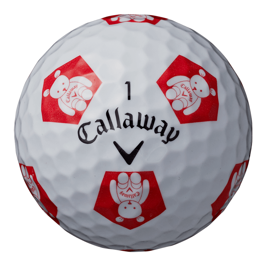 CHROME SOFT X TRUVIS CALLAWAY BEAR ボール ホワイト / レッド CE - View 4