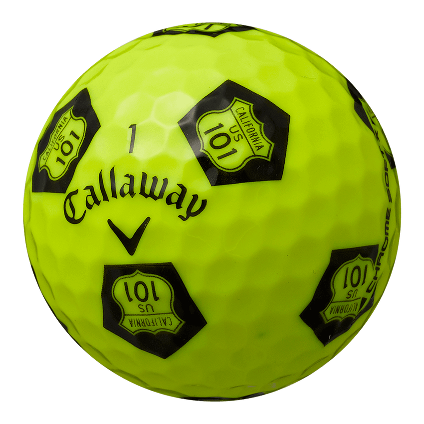 CHROME SOFT X TRUVIS HIGHWAY 101 ボール イエロー / ブラック CE - View 2