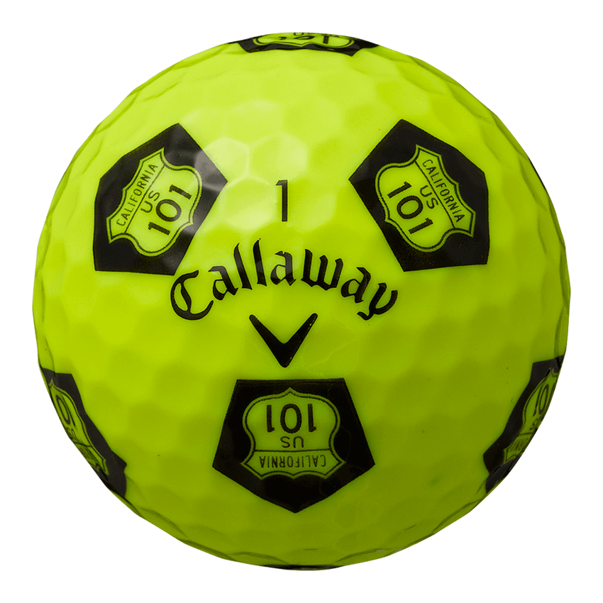 CHROME SOFT X TRUVIS HIGHWAY 101 ボール イエロー / ブラック CE - View 4