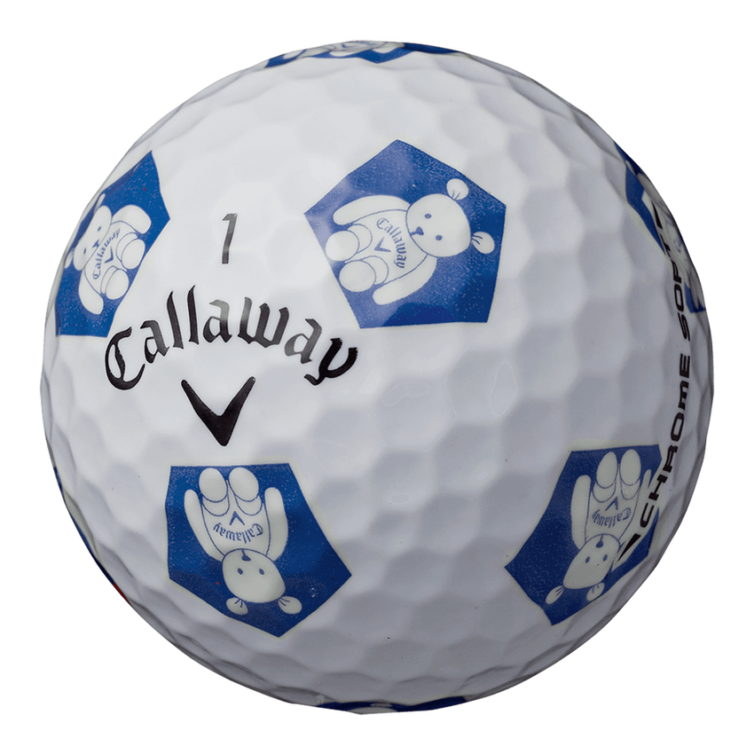 CHROME SOFT TRUVIS CALLAWAY BEARボール ホワイト / ブルー CE - View 2