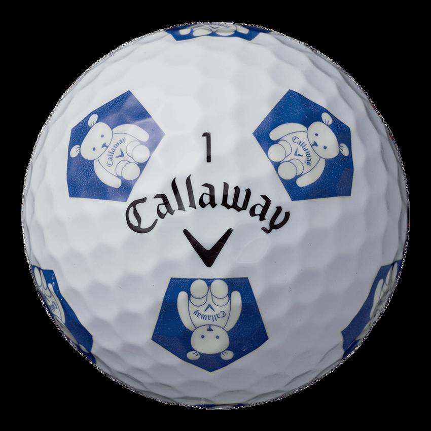 CHROME SOFT TRUVIS CALLAWAY BEARボール ホワイト / ブルー CE - View 4