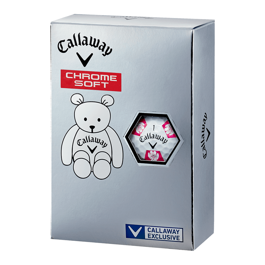 CHROME SOFT TRUVIS CALLAWAY BEAR ボール ホワイト / ピンク CE - View 5