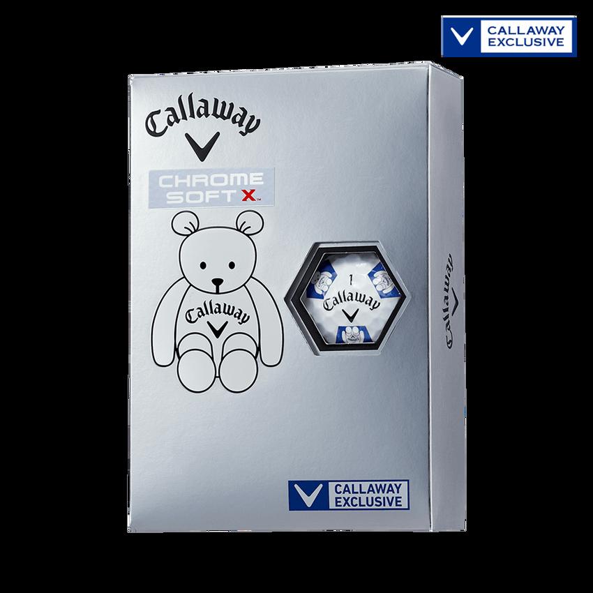 CHROME SOFT X TRUVIS CALLAWAY BEARボール ホワイト / ブルー CE - View 1