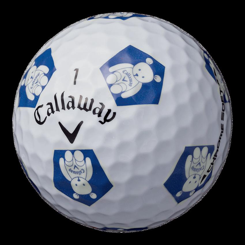 CHROME SOFT X TRUVIS CALLAWAY BEARボール ホワイト / ブルー CE - View 2