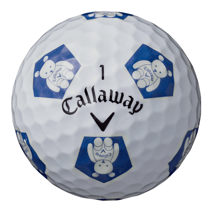 CHROME SOFT X TRUVIS CALLAWAY BEARボール ホワイト / ブルー CE - View 4