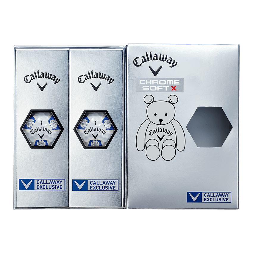 CHROME SOFT X TRUVIS CALLAWAY BEARボール ホワイト / ブルー CE - View 7